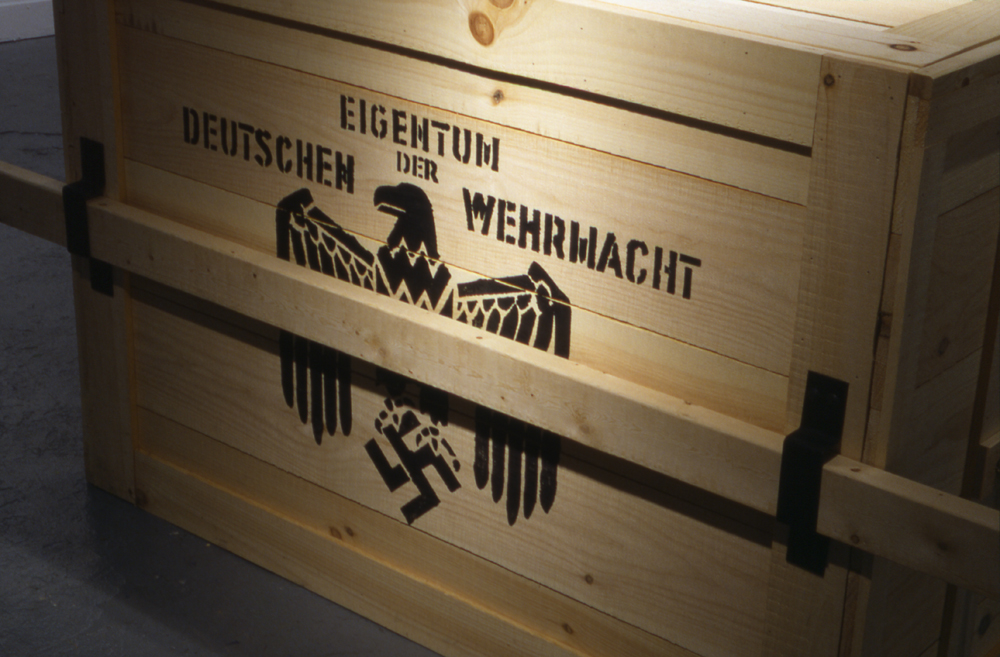Nazi Crate Replica Prop With White Fedora From Raiders